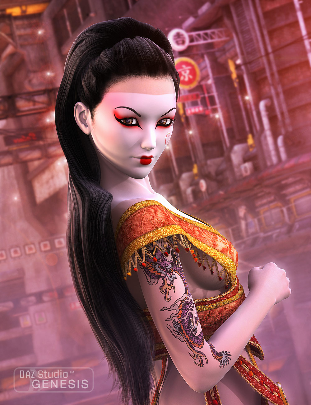Geishas for Aiko 5 by: DraagonStorm, 3D Models by Daz 3D