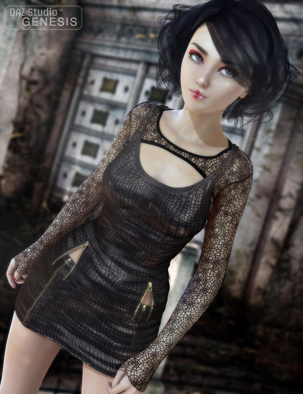 Goth Chick by: 4blueyes, 3D Models by Daz 3D