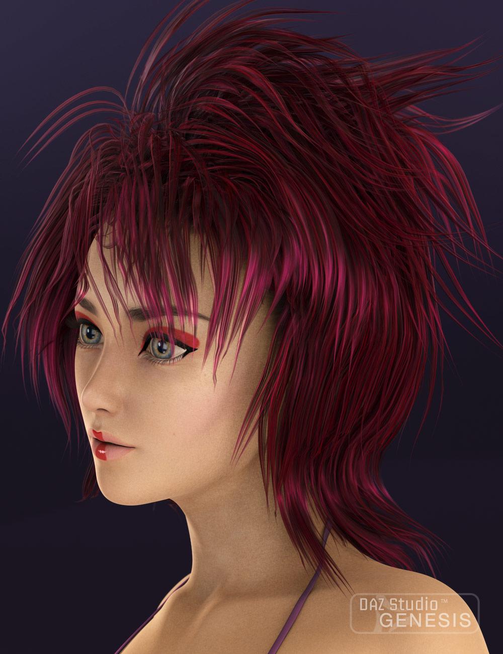 Momotsuki (Pink Moon) Hair by: Neftis3D, 3D Models by Daz 3D