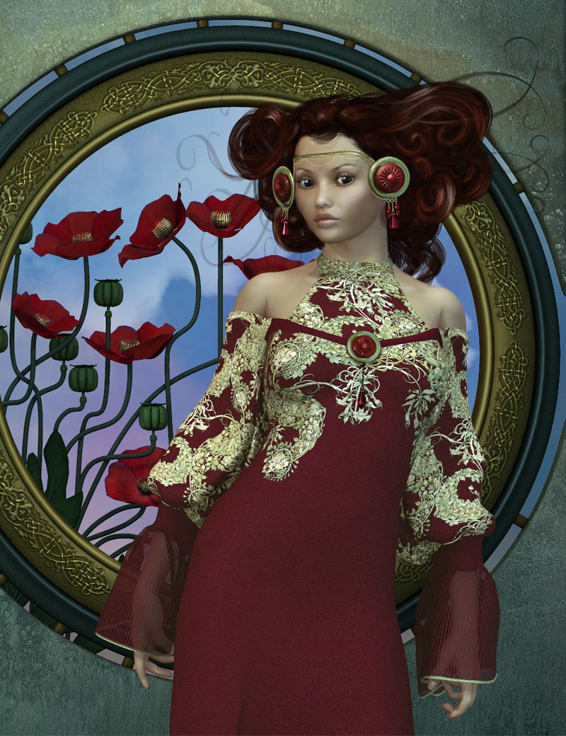Essence for V4 by: Mada, 3D Models by Daz 3D