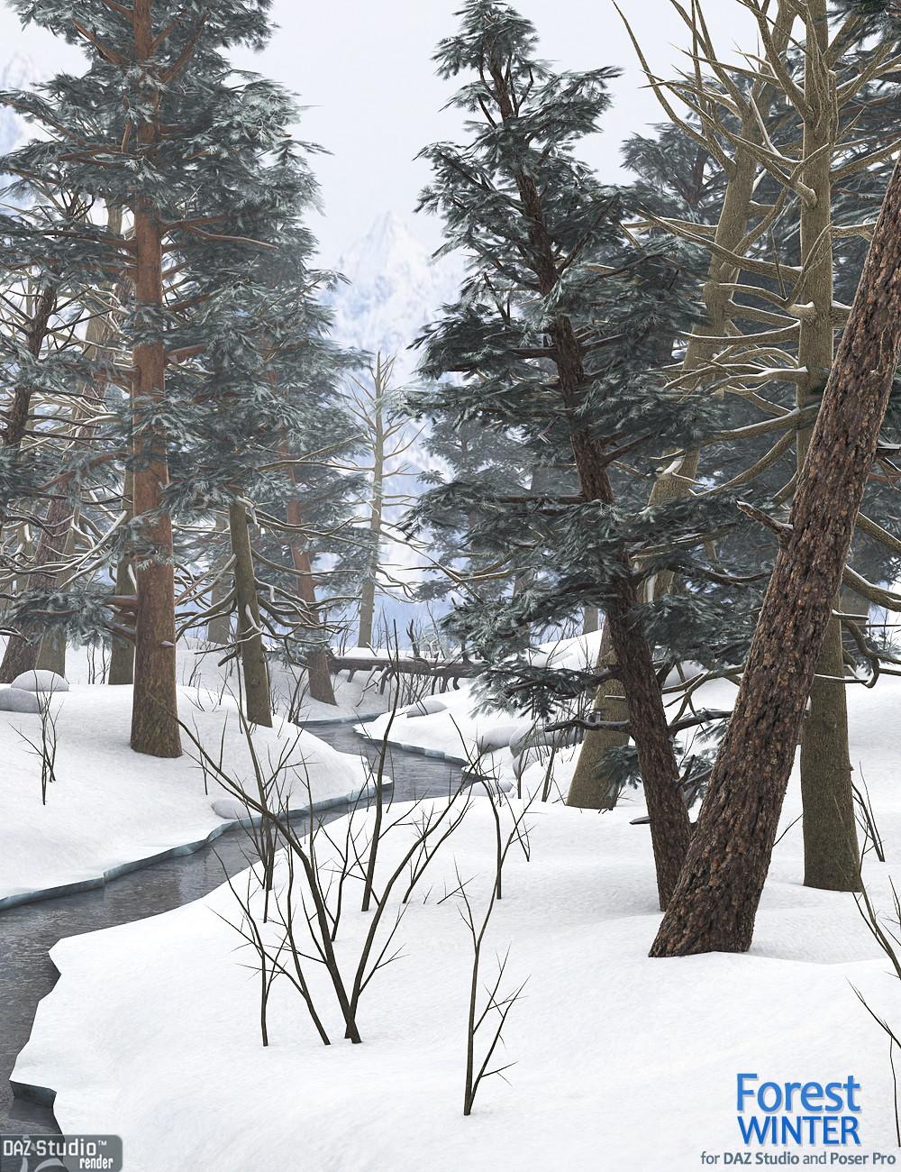Forest Winter by: Andrey Pestryakov, 3D Models by Daz 3D