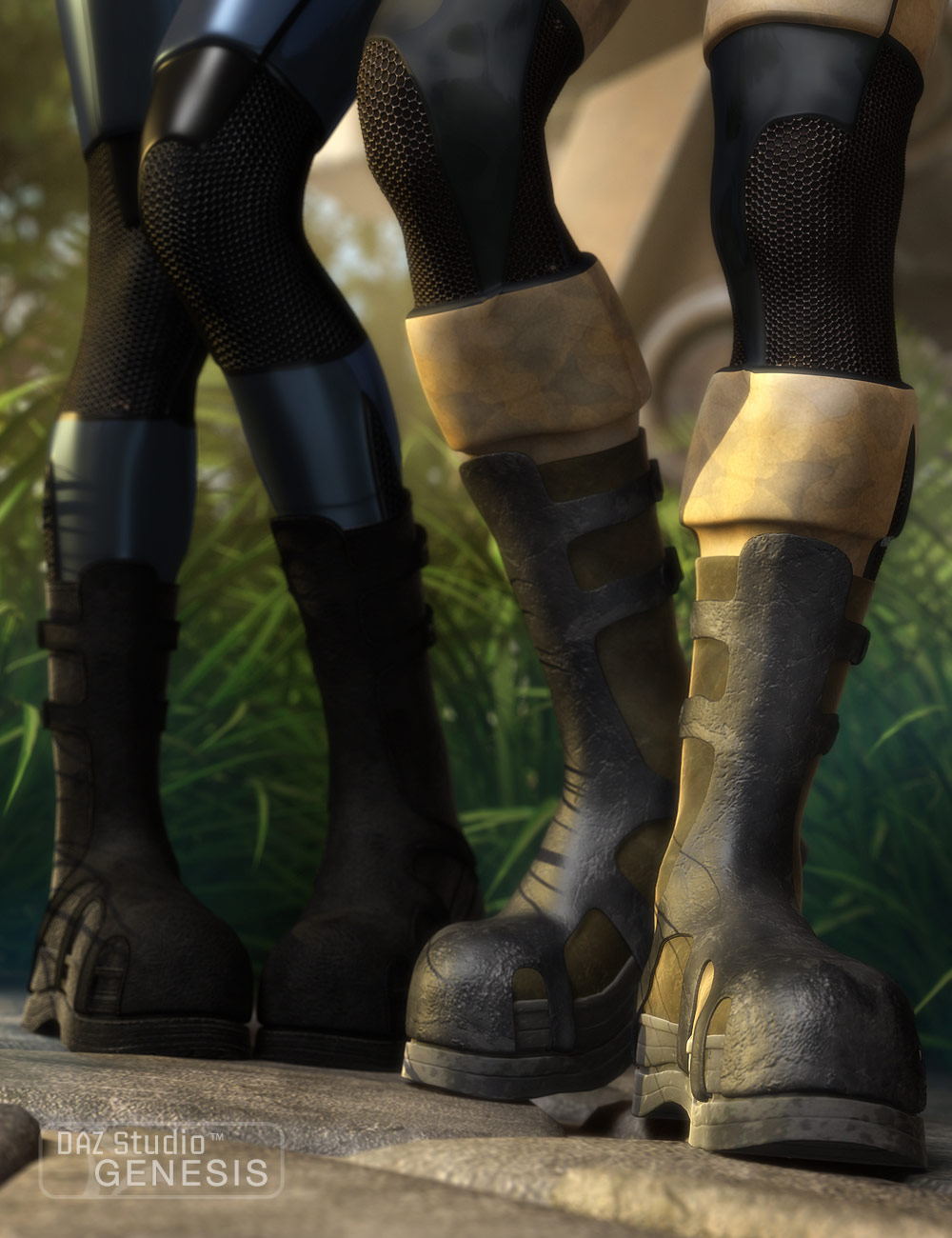 Action Kicker Boots by: SarsaXena, 3D Models by Daz 3D