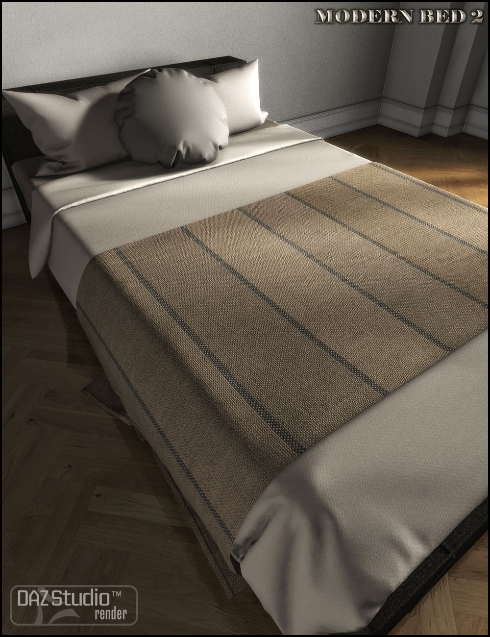 Modern Bed 2 by: Jack Tomalin, 3D Models by Daz 3D