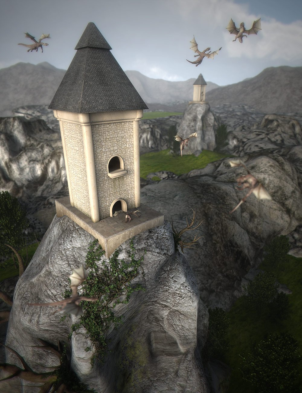 Dragon's Tower by: Nathy, 3D Models by Daz 3D