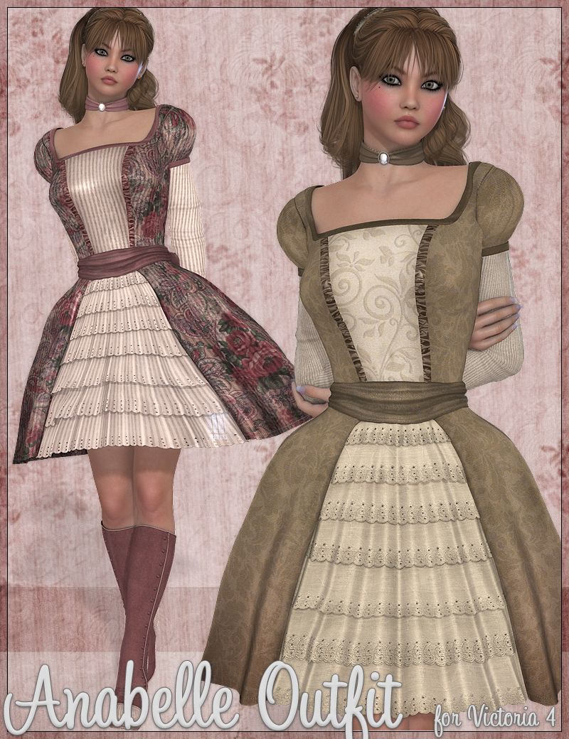 Anabelle Outfit by: JessaiiWildDesigns, 3D Models by Daz 3D