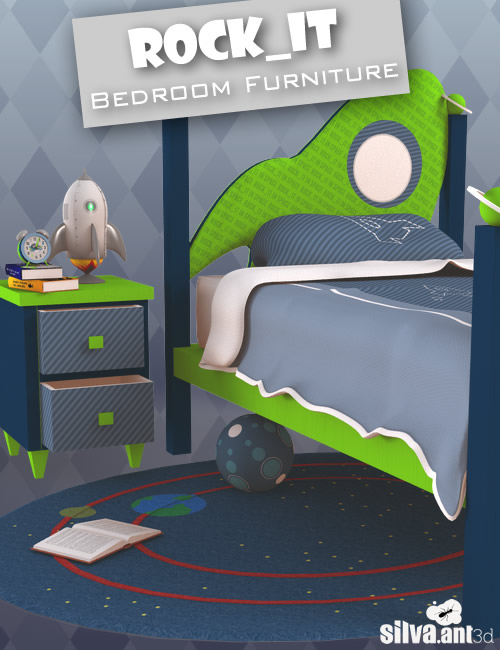 Rock_it Bedroom Furniture by: SilvaAnt3d, 3D Models by Daz 3D