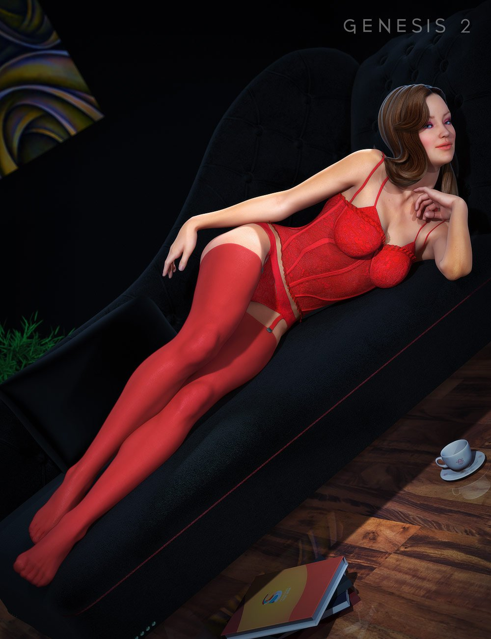 Sexy Time Lingerie by: Sarsa, 3D Models by Daz 3D