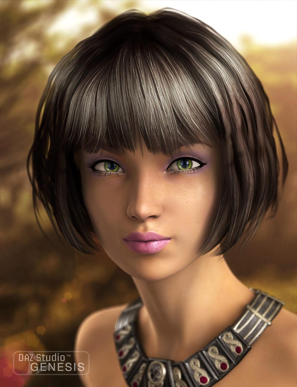 Little Melody Hair by: SWAM, 3D Models by Daz 3D