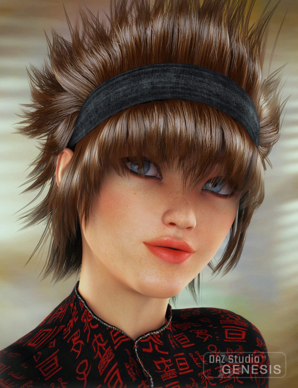 Yunko Hair by: SWAM, 3D Models by Daz 3D