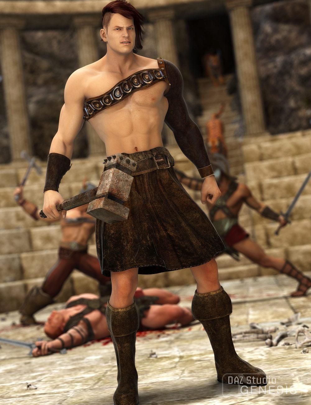 Gladiator by: Sarsa, 3D Models by Daz 3D