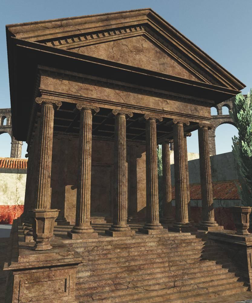 Roman Temple by: Cornucopia3D, 3D Models by Daz 3D