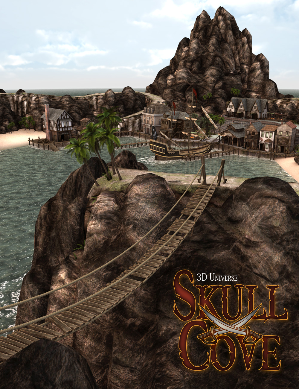 Skull Cove Complete by: 3D Universe, 3D Models by Daz 3D