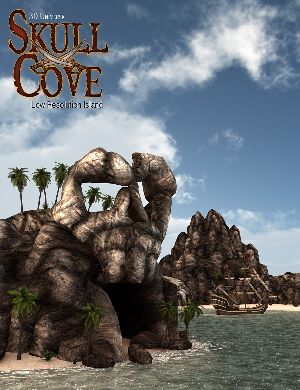 Skull Cove Island by: 3D Universe, 3D Models by Daz 3D