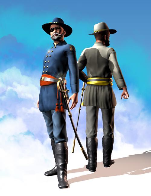 Shenandoah: Officer by: Meshitup, 3D Models by Daz 3D
