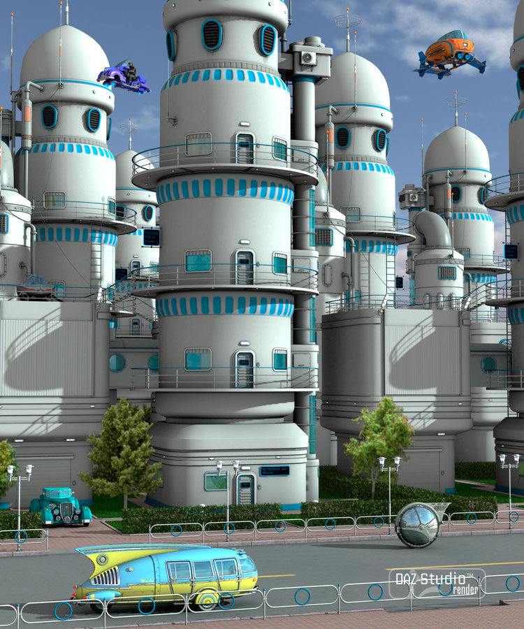 Technopolis by: petipet, 3D Models by Daz 3D
