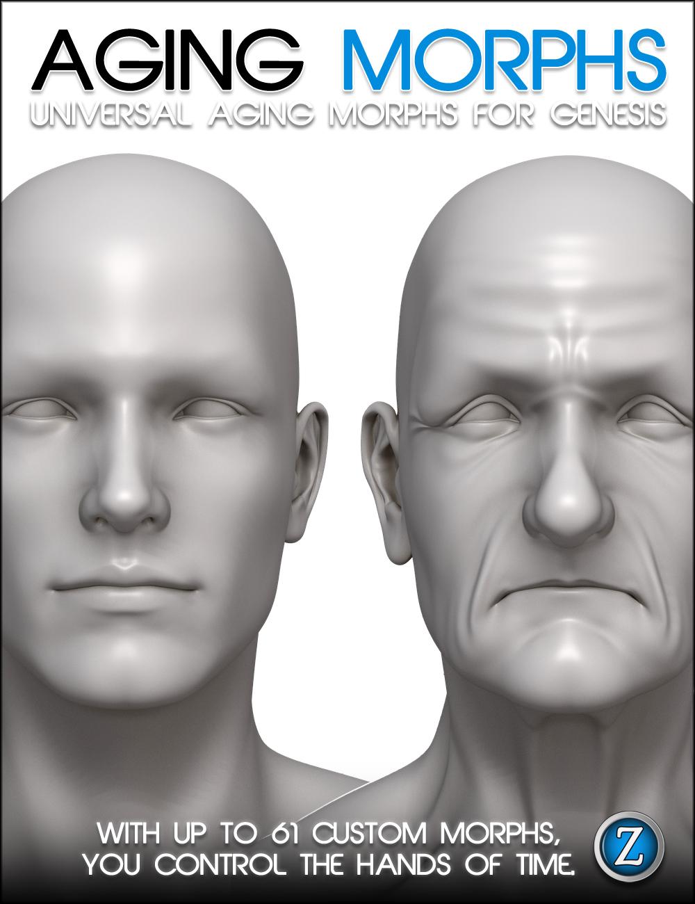 Aging Morphs For Genesis by: Zev0, 3D Models by Daz 3D