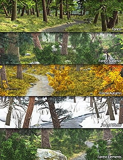 Forest Bundle by: Andrey Pestryakov, 3D Models by Daz 3D