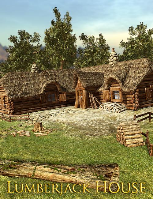 Lumberjack House by: powerage, 3D Models by Daz 3D