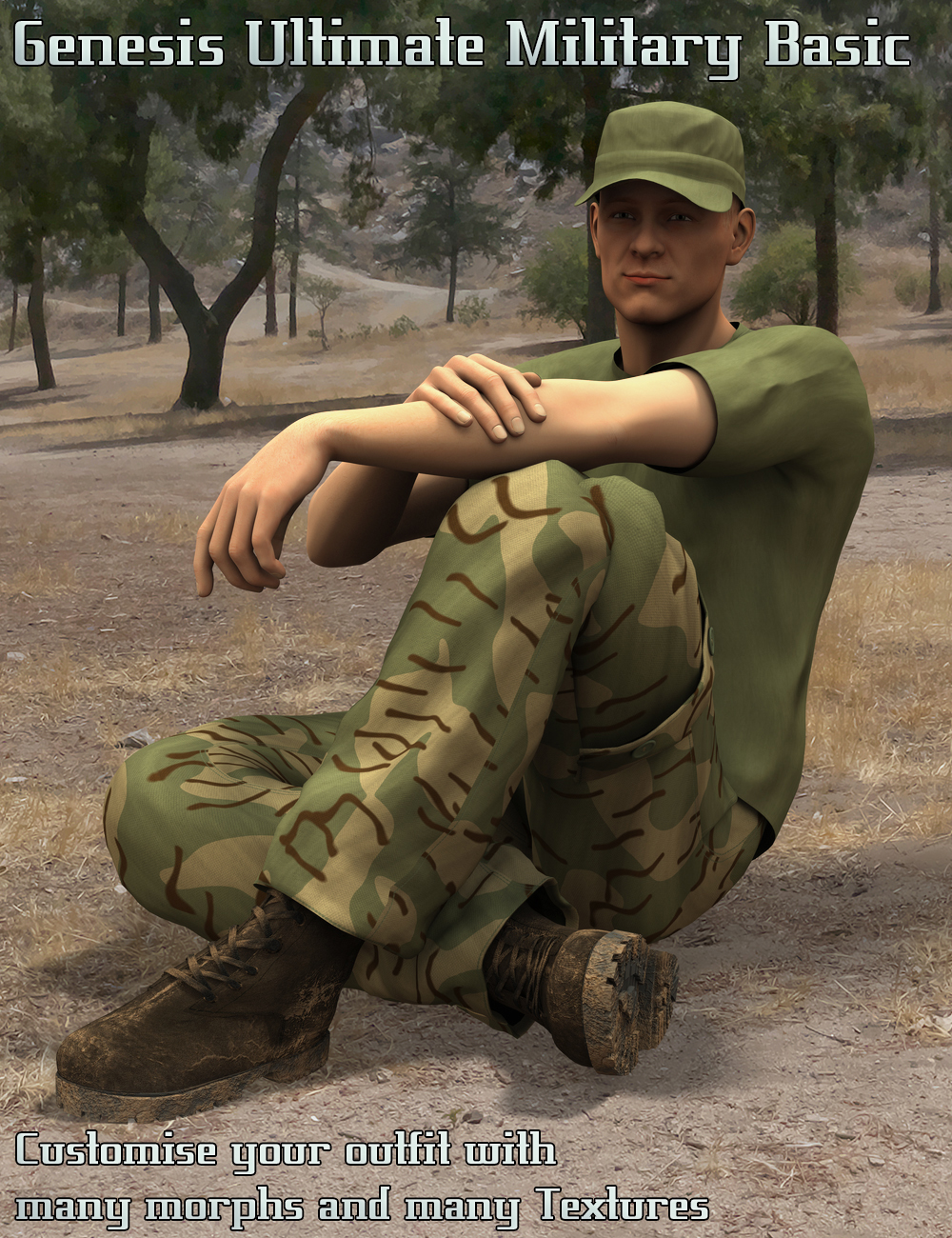 Genesis Ultimate Military Basic by: V3Digitimes, 3D Models by Daz 3D