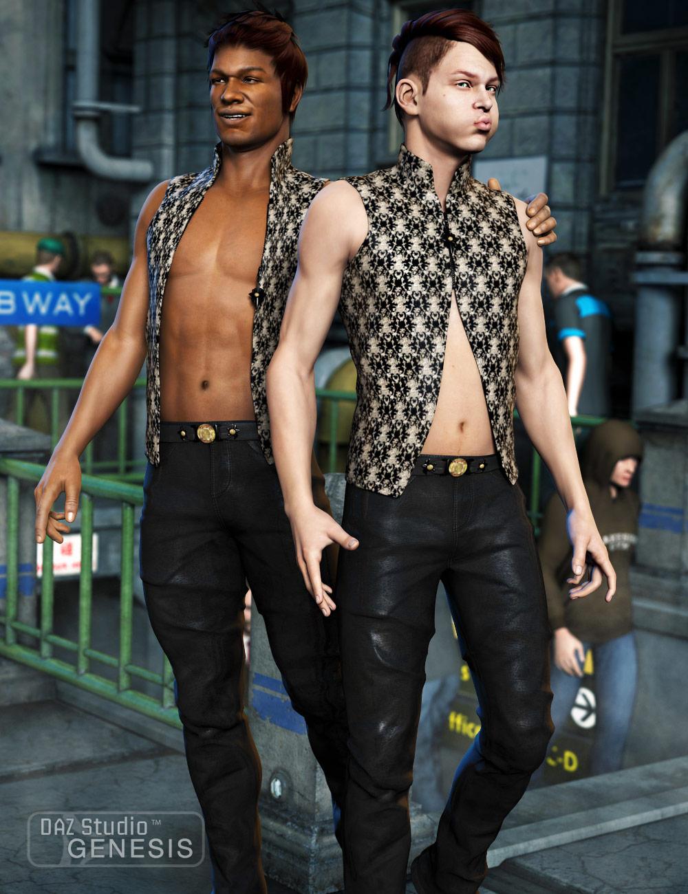 Men's Night Life by: MadaSarsa, 3D Models by Daz 3D