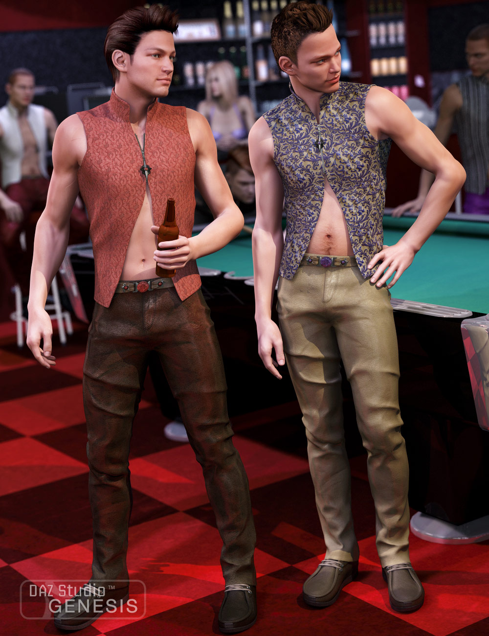 Men's Night Life Textures by: Sarsa, 3D Models by Daz 3D