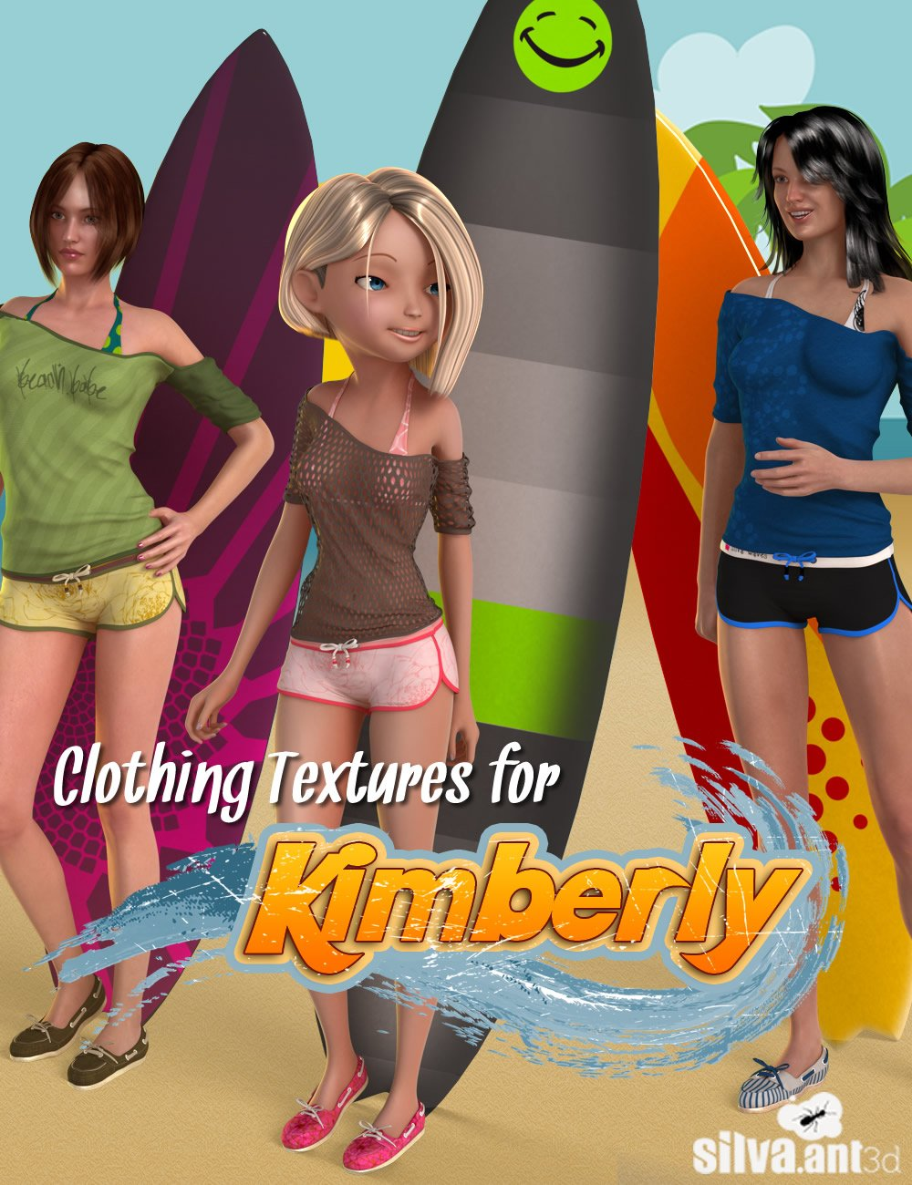 Clothing Textures For Kimberly by: SilvaAnt3d, 3D Models by Daz 3D