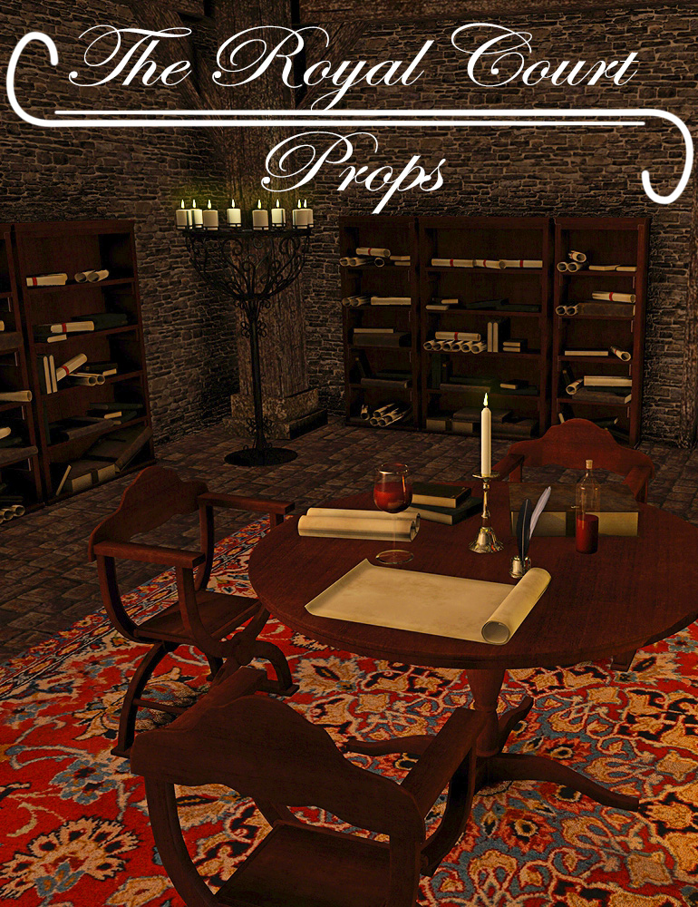 Royal Court Props by: ARTCollaborationsNeilV 1, 3D Models by Daz 3D
