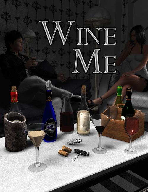 Wine Me by: Dumor3D, 3D Models by Daz 3D