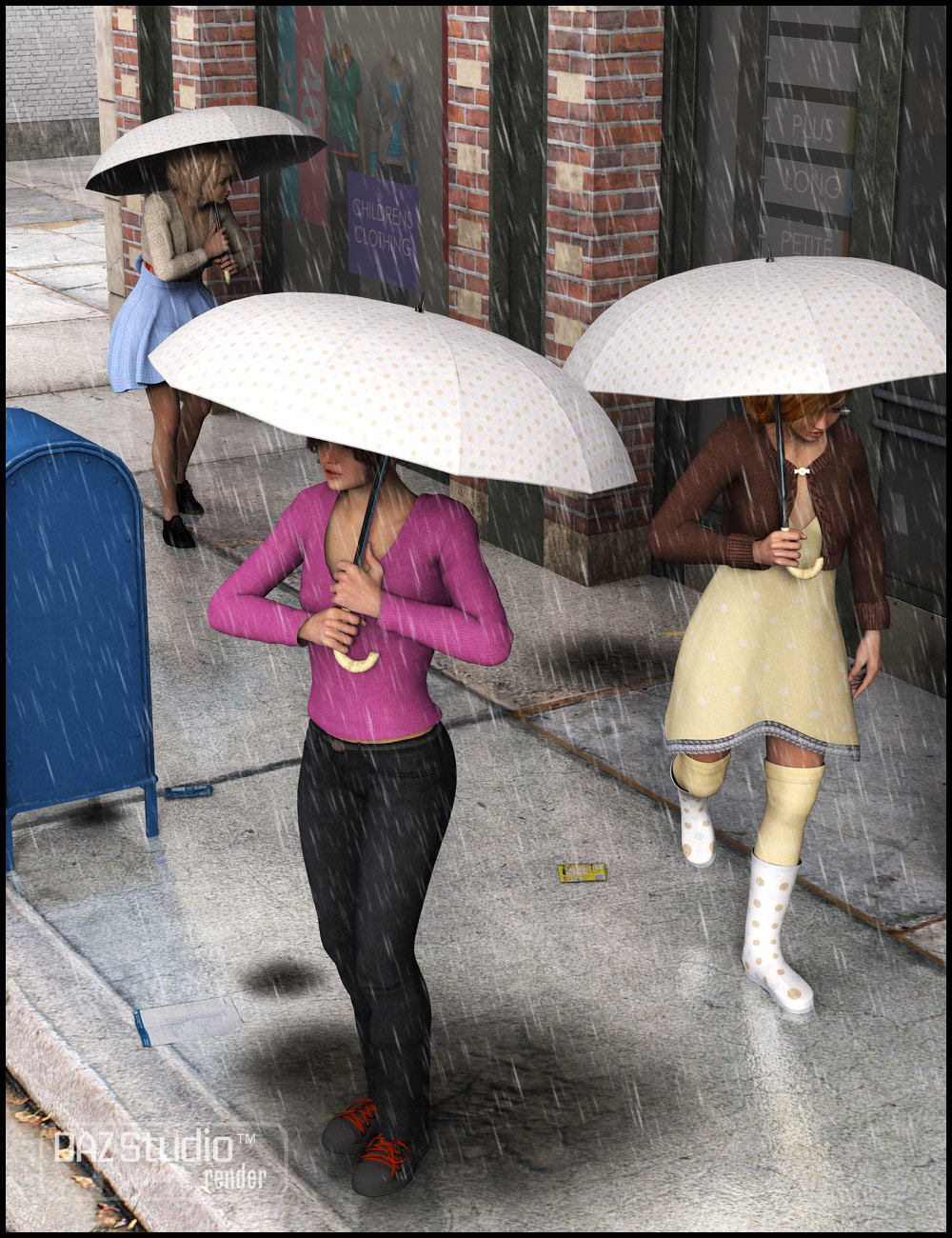 April Showers Poses for Genesis Female by: FeralFey, 3D Models by Daz 3D