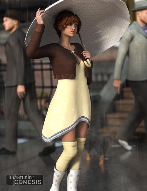April Showers for Genesis Female by: , 3D Models by Daz 3D