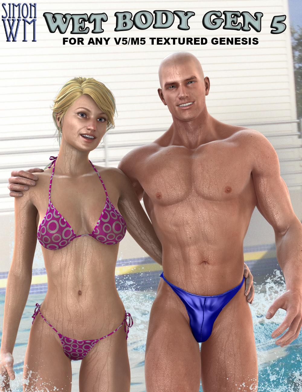 Wet Body Gen 5 by: SimonWM, 3D Models by Daz 3D