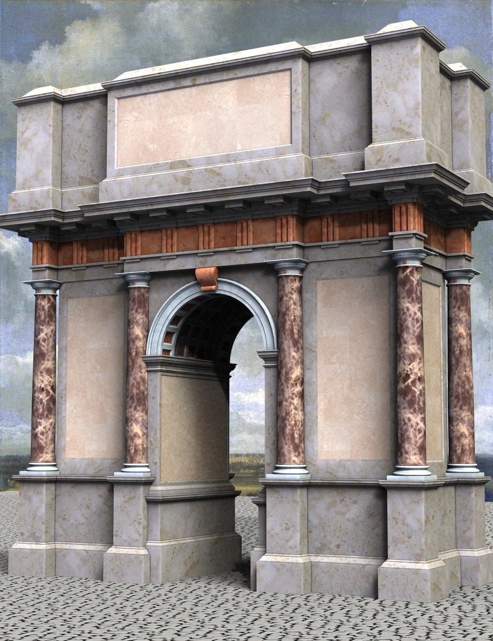 Roman Doric Triumphal Arch by: KRAIG, 3D Models by Daz 3D