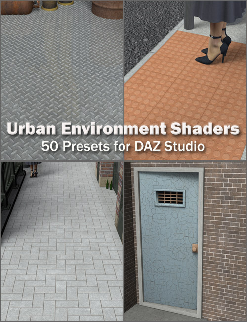 Urban Environment Shaders for DAZ Studio by: Eva1, 3D Models by Daz 3D