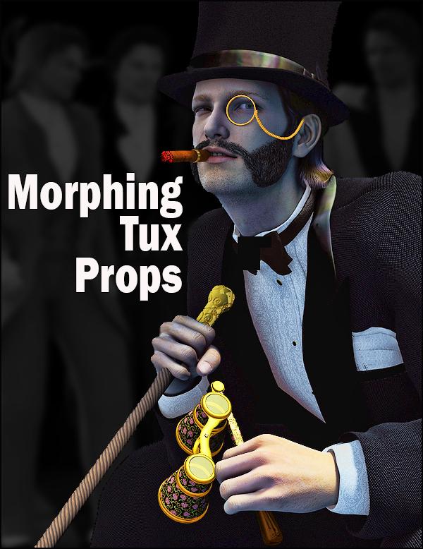 Morphing Tux Props by: SickleyieldMarieah, 3D Models by Daz 3D