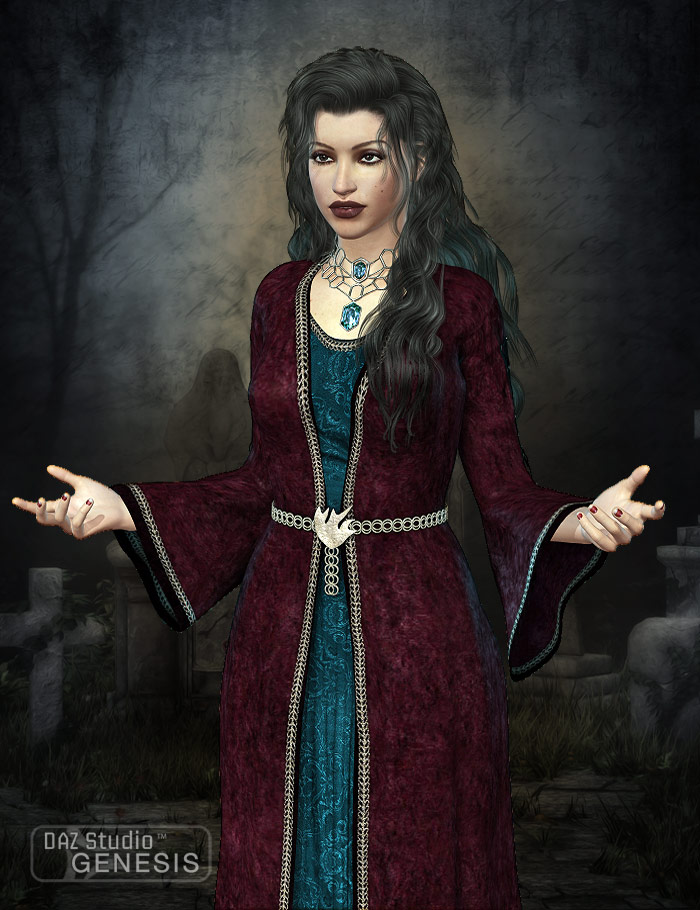 Conjurer for Priestess by: Sarsa, 3D Models by Daz 3D