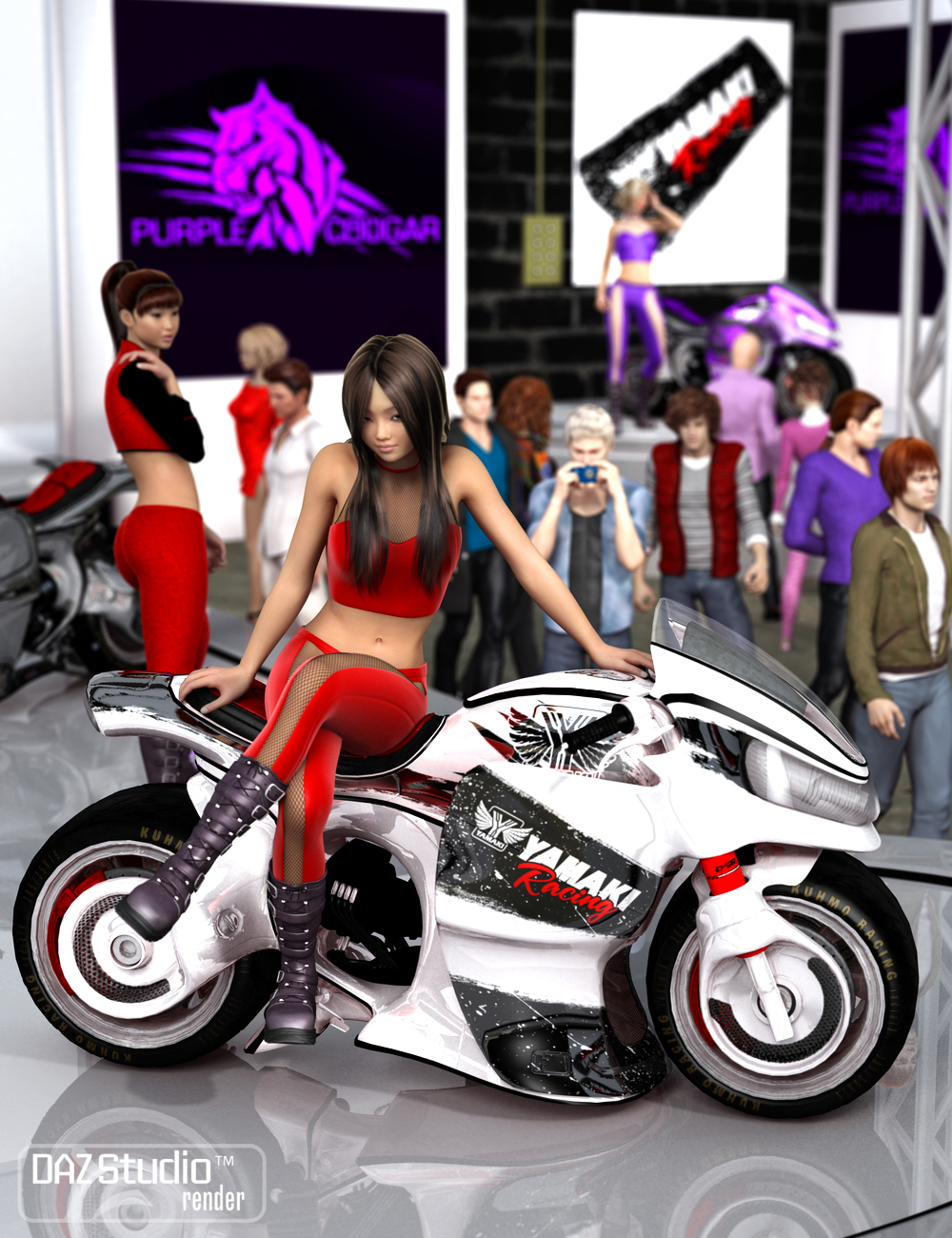 Yamaki Show Poses by: Daz OriginalsJGreenlees, 3D Models by Daz 3D