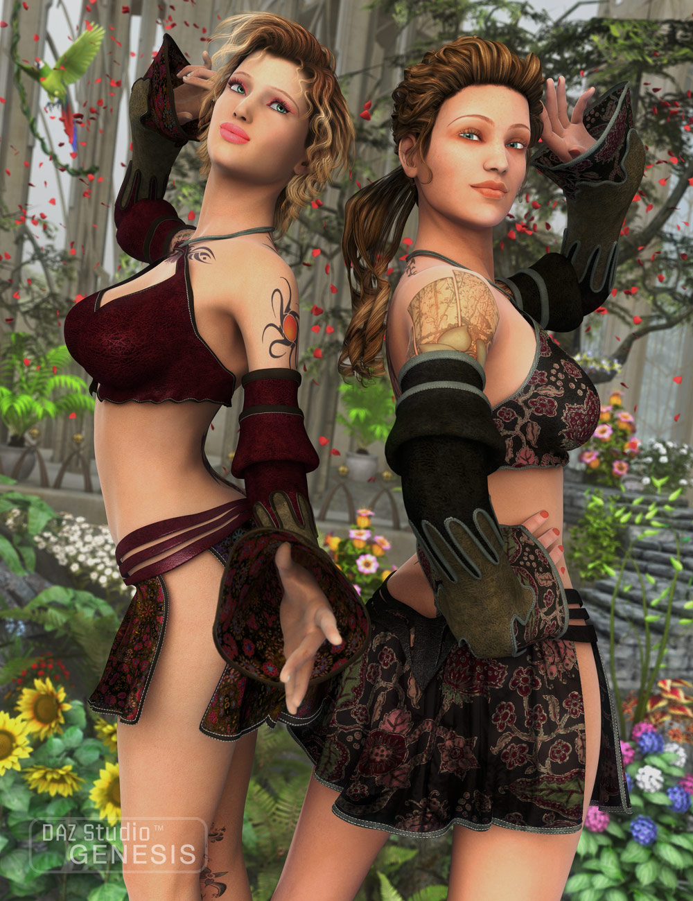 Gypsy Dancer Textures by: Sarsa, 3D Models by Daz 3D