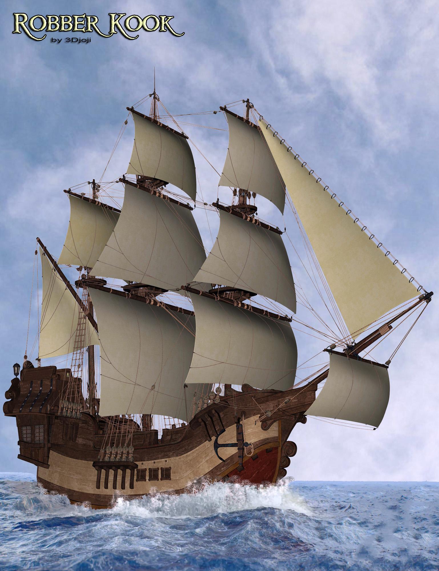 RobberKook Toon Boat by: 3djoji, 3D Models by Daz 3D