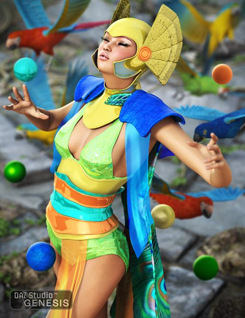 Colorways: Peacock Shader Presets by: , 3D Models by Daz 3D