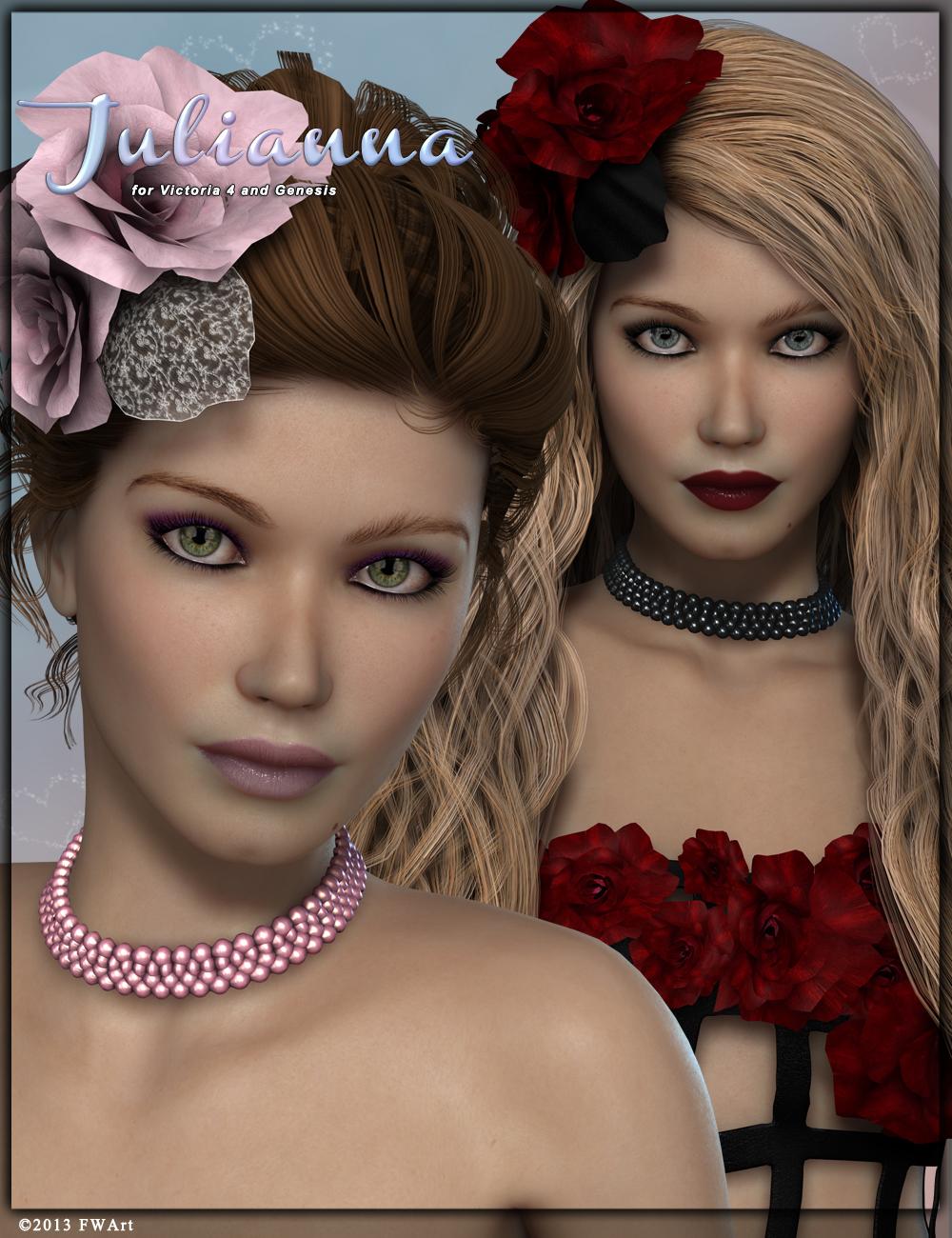 FW Julianna by: Fred Winkler Art, 3D Models by Daz 3D