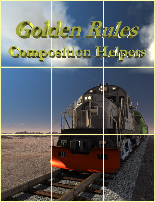 Golden Rules Composition Helpers for Bryce by: David BrinnenHoro, 3D Models by Daz 3D