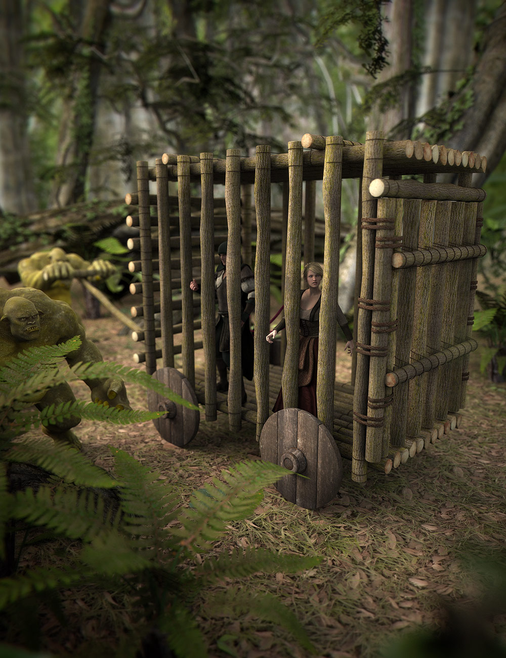 The Caged Cart by: ARTCollab, 3D Models by Daz 3D