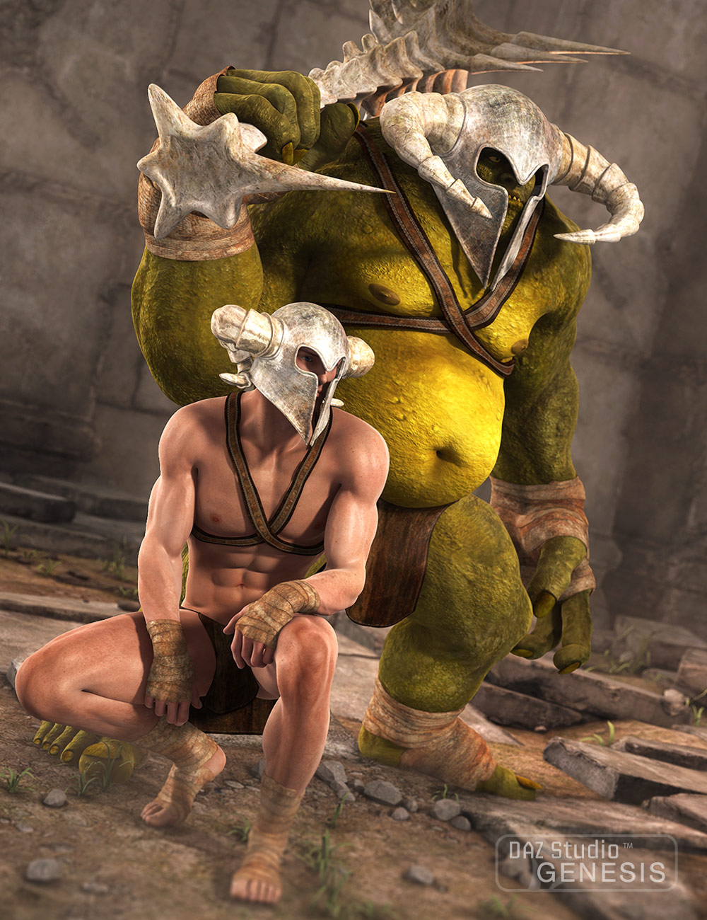 Primordial Barbarian Clothing by: Sarsa, 3D Models by Daz 3D