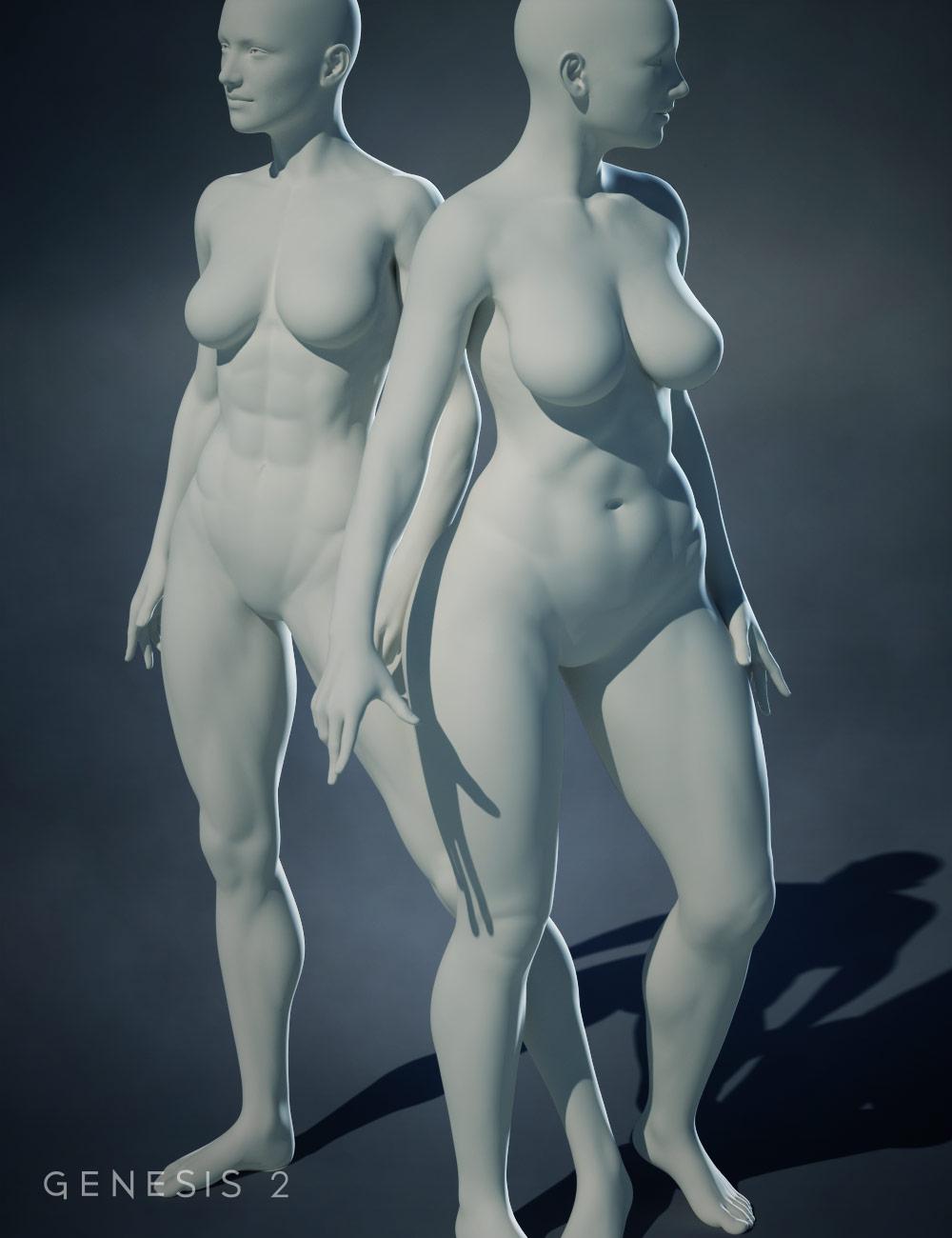 Genesis 2 Female Body Morphs by: , 3D Models by Daz 3D
