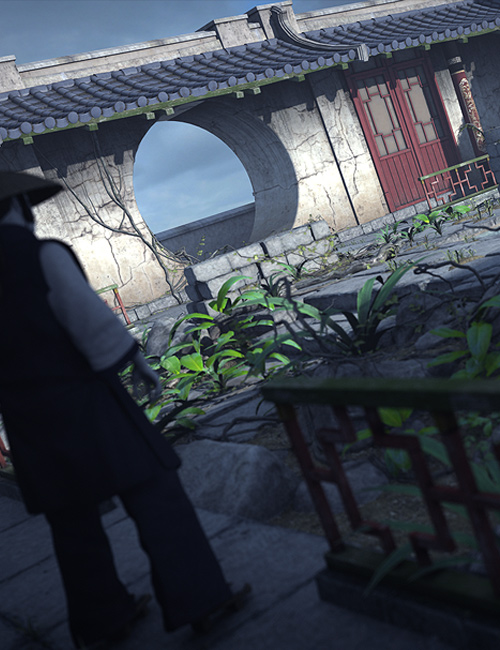 Streets Of Asia 3: Courtyard by: Stonemason, 3D Models by Daz 3D