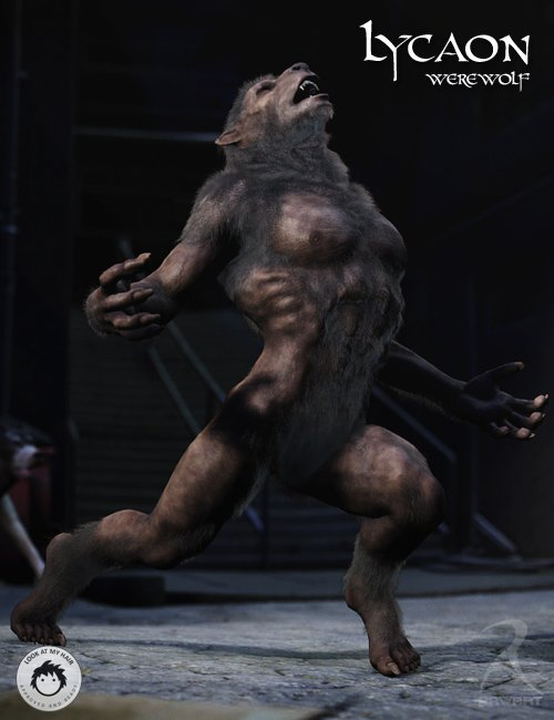 Lycaon the Werewolf by: RawArt, 3D Models by Daz 3D