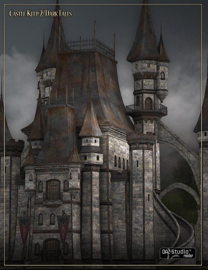 Castle Keep 2 - Dark Tales by: LaurieS, 3D Models by Daz 3D