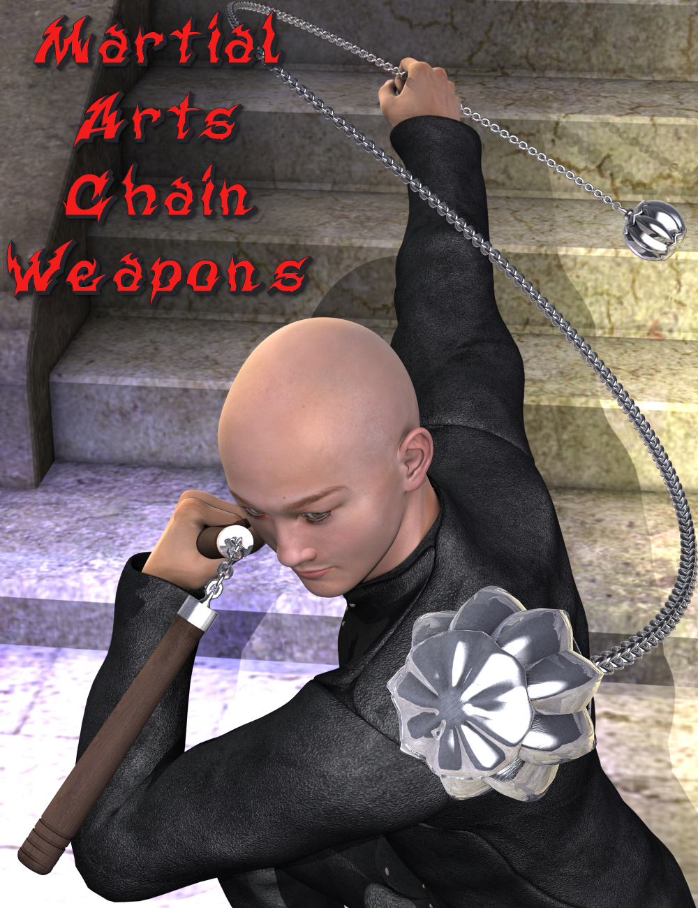 Martial Arts Chain Weapons by: Sickleyield, 3D Models by Daz 3D