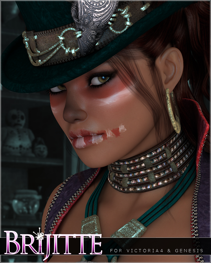 Brijitte by: JessaiiAdiene, 3D Models by Daz 3D
