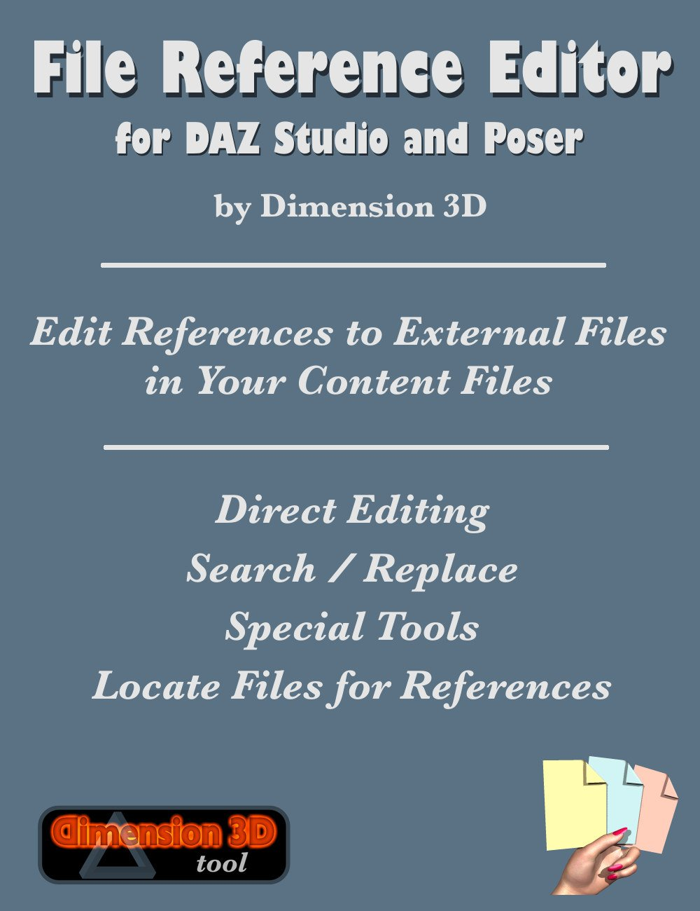 File Reference Editor by: Dimension3D, 3D Models by Daz 3D